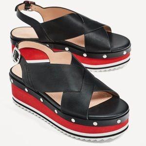 Nwot Zara woman platform sandals
